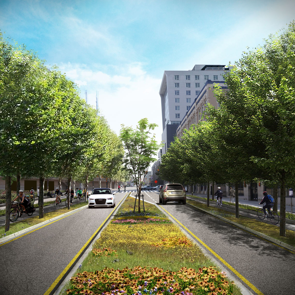 Fulton Street in the future - a new gateway to Downtown